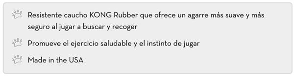 Resistente caucho KONG Rubber que ofrece un agarre más suave y más seguro al jugar a buscar y recoger